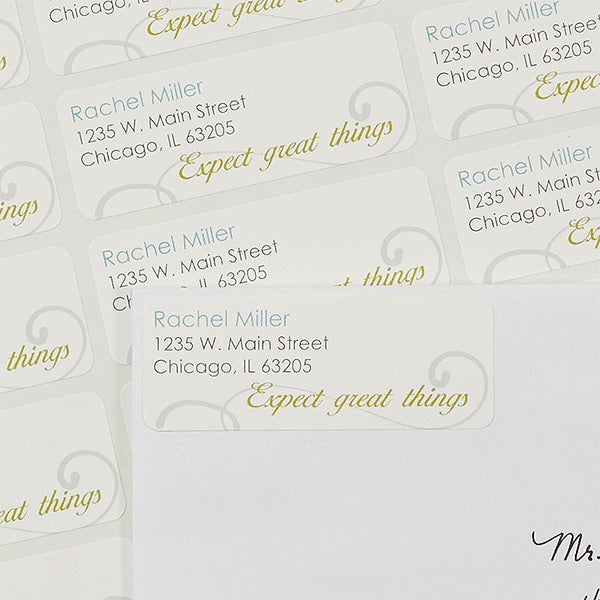 Personalized Return Address Labels - Inspirational Quote - 13549