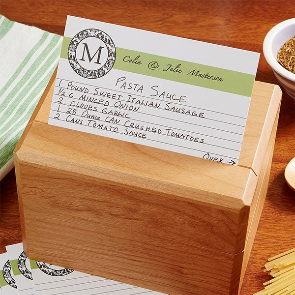 Personalized Recipe Box - Wedding Recipes - 13557