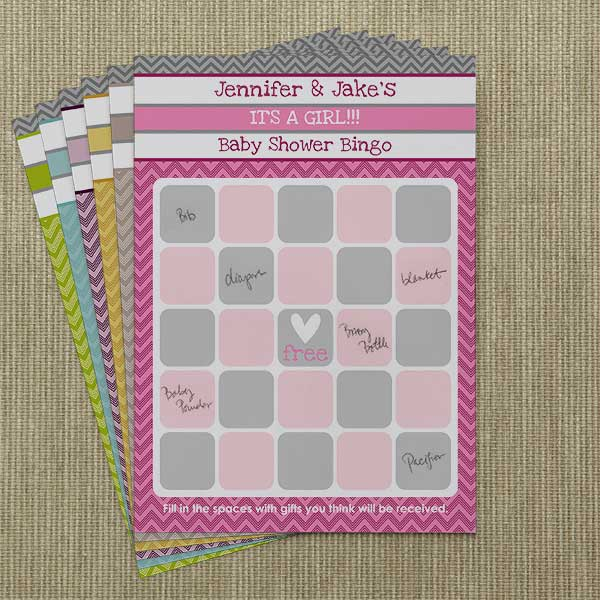 Personalized Baby Shower Games - Bingo Cards - 13561