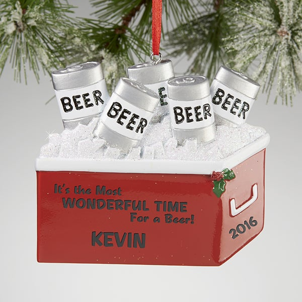 Personalized Christmas Ornament - Beer Cooler