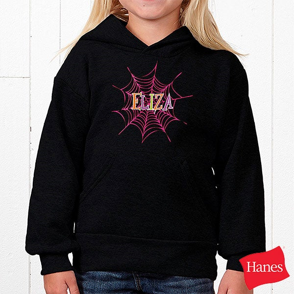 Personalized Girls Halloween Shirts - Spider Webs - 13655
