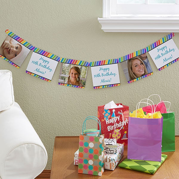 Personalized Party Banners - Photo Stripes - 13716