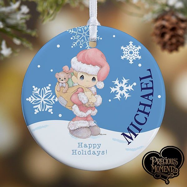 Personalized Christmas Ornaments - Precious Moments Santa - 13755
