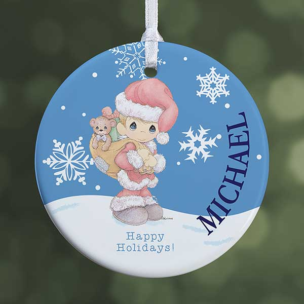 Precious Moments Personalized Santa Ornament