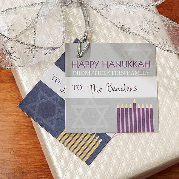 Personalized Hanukkah Gift Tags - 13786