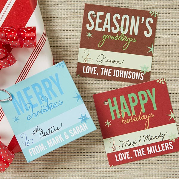 Season's Greetings Personalized Christmas Gift Tags - 13787