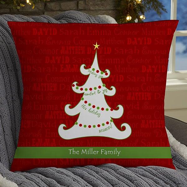 Personalized Throw Pillows - Christmas Tree - 13795