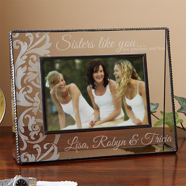 Personalized Glass Picture Frames - Sisters Like You - 13819