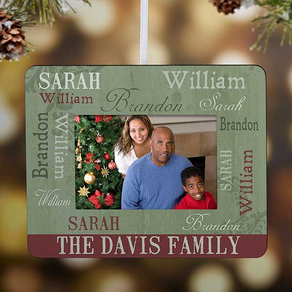 Personalized Christmas Ornament Mini-Frame - Loving Family - 13842