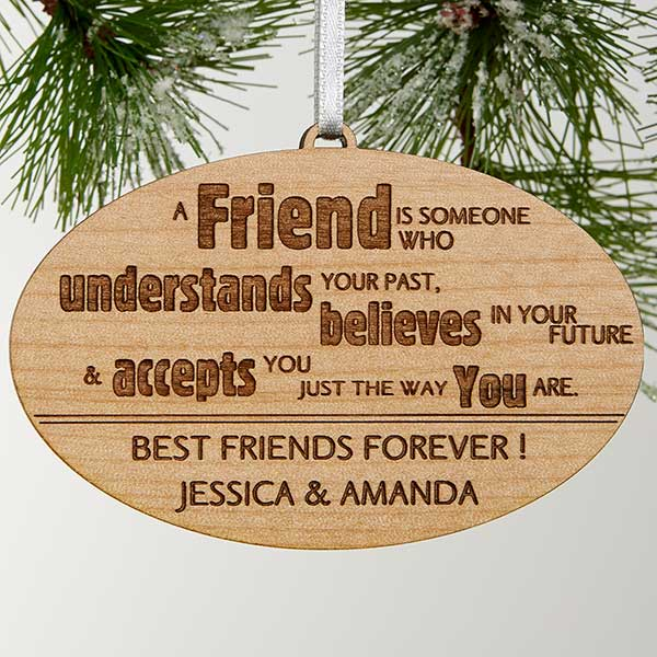 Engraved Christmas Ornaments - Forever Friend - 13874