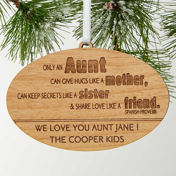Personalized Family Christmas Ornaments - Special Aunt - 13878