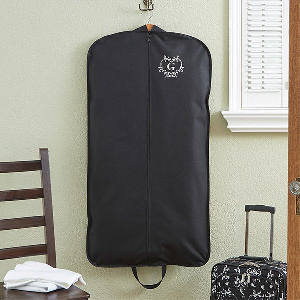 Personalized Ladies Garment Bag - Embroidered Initial - 13901