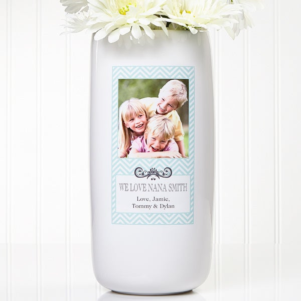 Personalized Photo Vase - Chevron Class - 13906