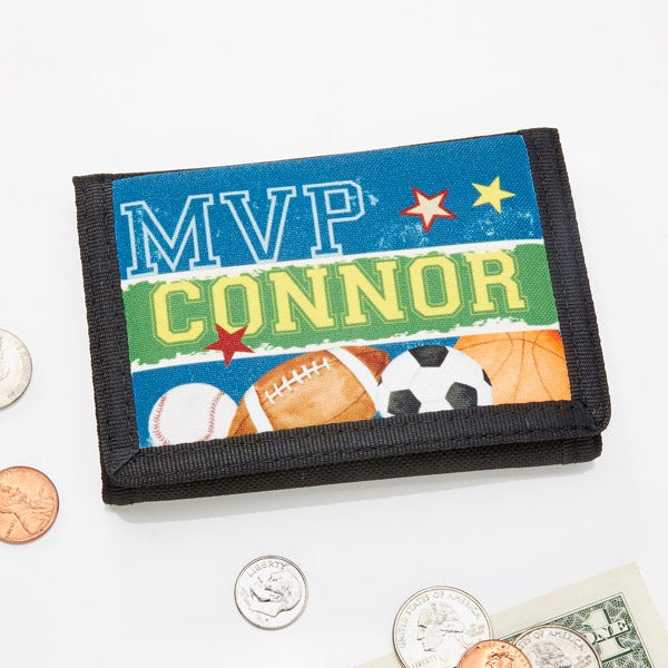 Personalized Boys Wallets - Sports - 13958