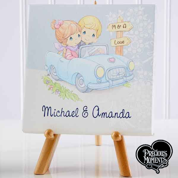 Personalized Romantic Tabletop Canvas Print - Precious Moments Couple - 13962