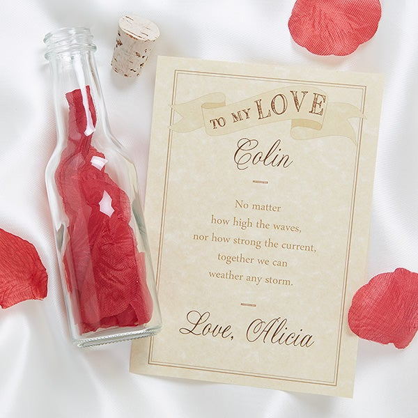 13973 to my love personalized love letter in a bottle With personalized love letter in a bottle
