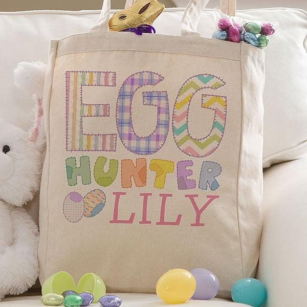 Personalized Kids Easter Tote Bag - Easter Egg Hunter - 14080