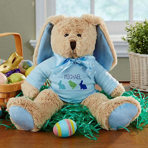 Personalized Stuffed Easter Bunny Plush Doll - 14101