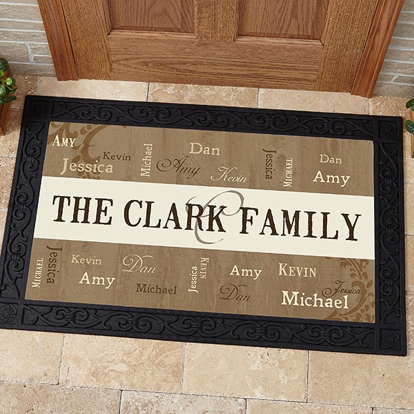 Personalized Family Name Doormats - Our Loving Family - 14118