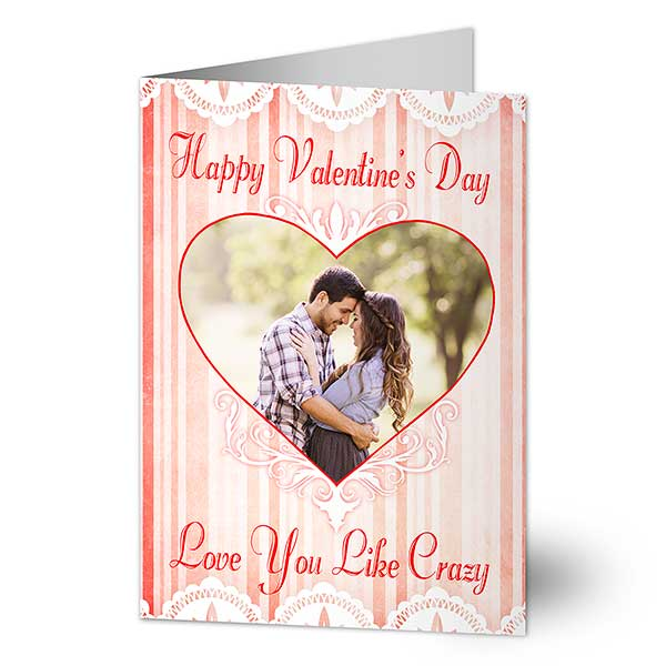 Personalized Photo Valentine S Day Cards Vintage Heart