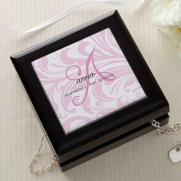 Personalized Keepsake Jewelry Box - Name Meaning - 14143