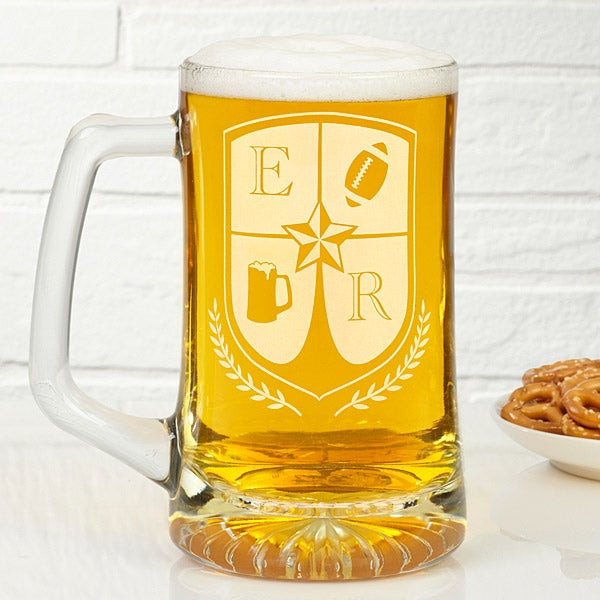 Personalized Beer Mugs - My Crest - 14147