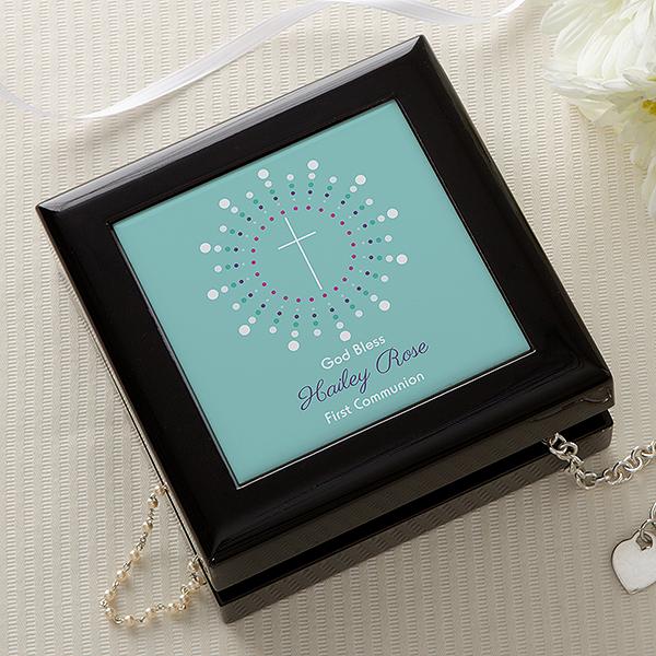 Personalized Cross Jewelry Box - God Bless - 14162