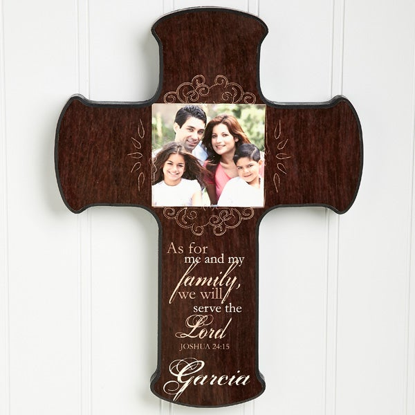 Personalized Photo Wall Cross - Family Blessings - 14167
