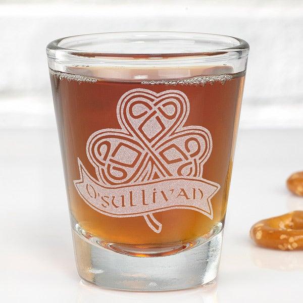 Personalized Shot Glasses - Celtic Shamrock - 14203