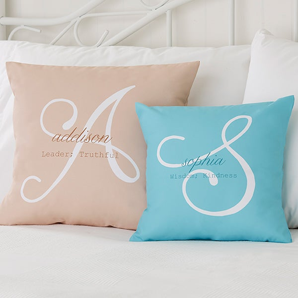 Name Meaning Personalized Keepsake Pillow