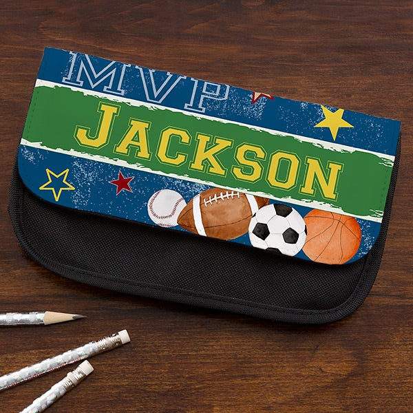 Personalized Sports Pencil Case - Ready, Set, Score - 14219