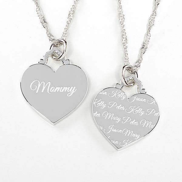 20b248a06 Engraved Heart Necklace - Love By Mom - 14243