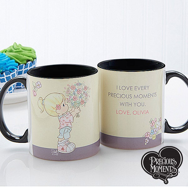 Personalized Coffee Mugs for Mom - Precious Moments Flower Bouquet - 14273
