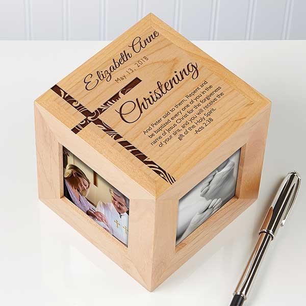 Personalized Photo Cubes - Christening & Baptism - 14283