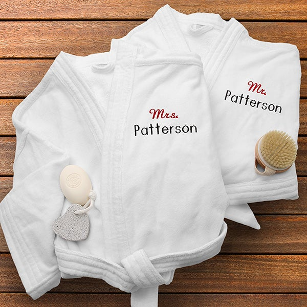 Personalized Velour Spa Robes - Mr and Mrs Collection - 1429 154668308
