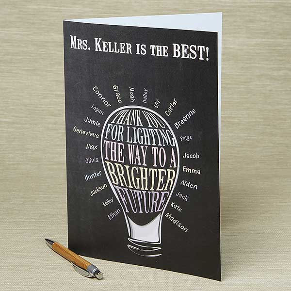 Oversized Personalized Teacher Greeting Card - Lighting The Way - 14324