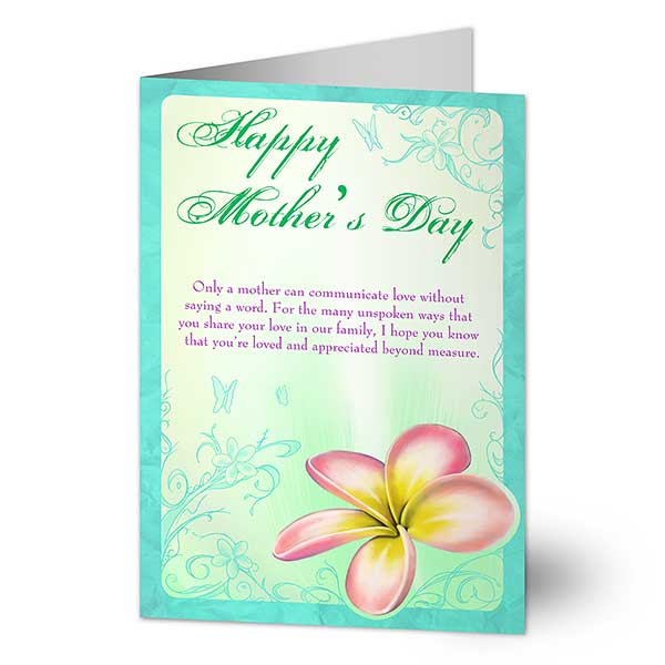 Personalized Mother's Day Cards - A Mother's Love Blooms - 14325