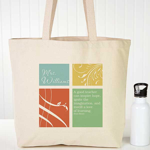 Personalized Teacher Tote Bags - Inspiration - 14335