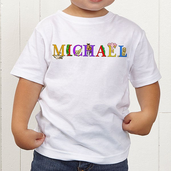 Personalized Kids Clothes - Alphabet Animals - 14347