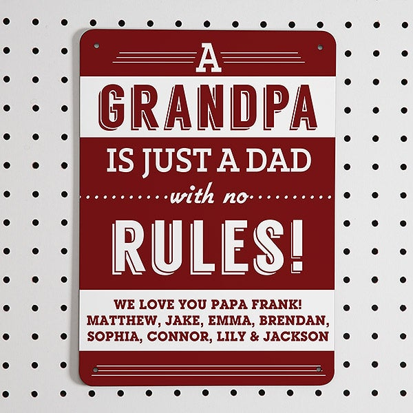Personalized Street Signs >> Grandpa S Rules Personalized Street Sign