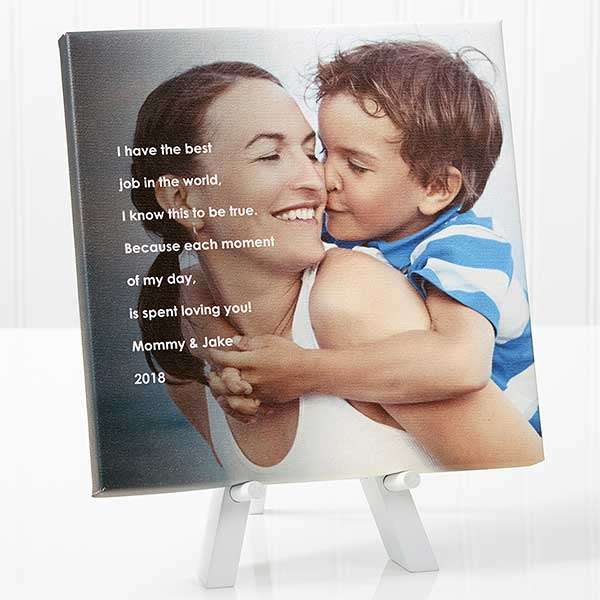 Personalized Tabletop Canvas Print for Her - Photo Sentiments - 14387