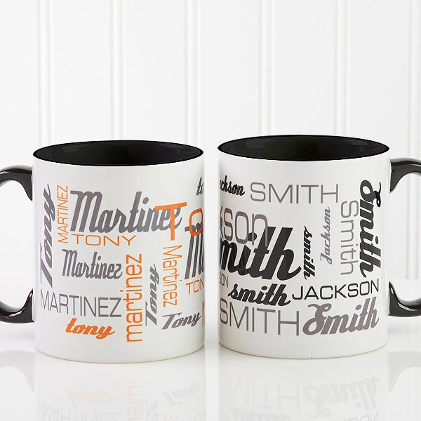 1bd4bbfb0fb Personalized Coffee Mugs - Signature Style For Him - Blank Handle