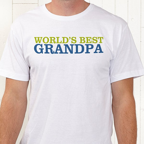 fd9fe3b4 Personalized Grandpa T-Shirts - Grandpa's Favorite - Father's Day Gifts