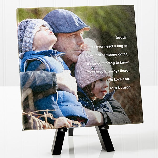 Personalized Tabletop Canvas Print - Photo Sentiments for Him - 14473