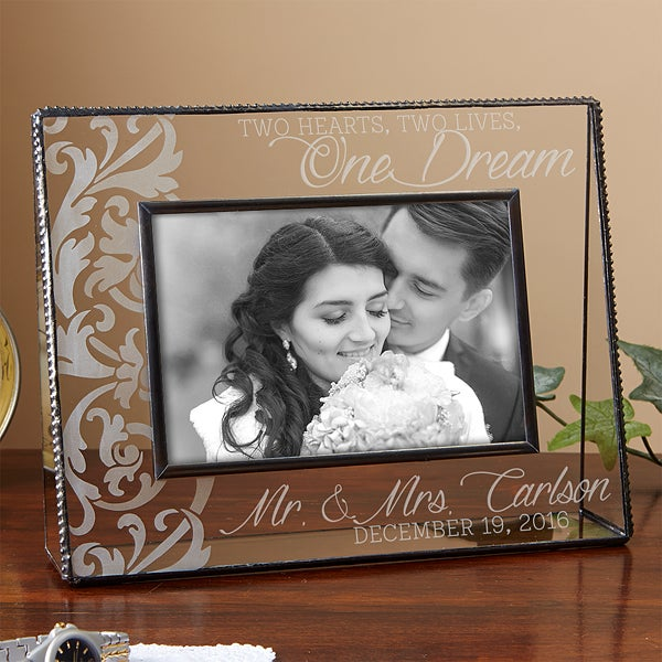 14488 Two Hearts Two Lives One Dream Personalized Frame