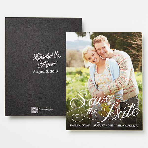 Personalized Save The Date Photo Cards & Magnets - Simply Elegant - 14496