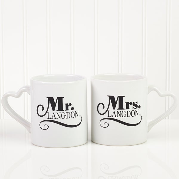 Personalized Couples Coffee Mug Set - Happy Couple - 14503