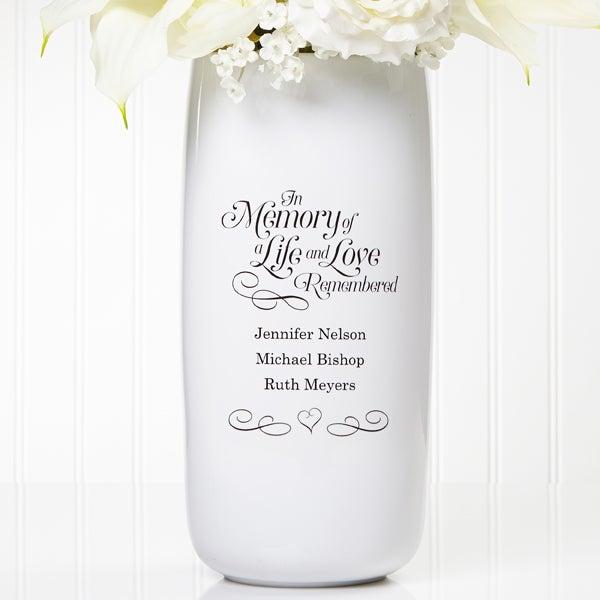 Personalized Wedding Memorial Vase In Memory Of