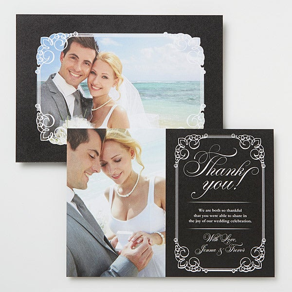 Personalized Photo Wedding Thank You Cards - Wedding Season - 14519