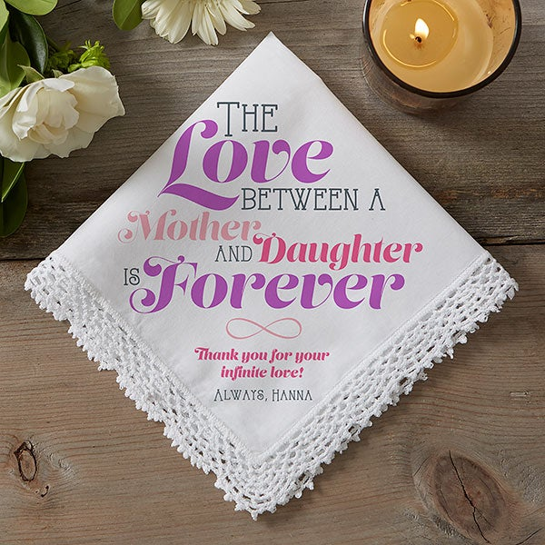 Personalized Wedding Handkerchief - Love Is Forever - 14527